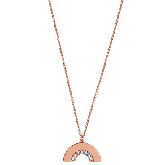 Rainbow Necklace Rose Gold