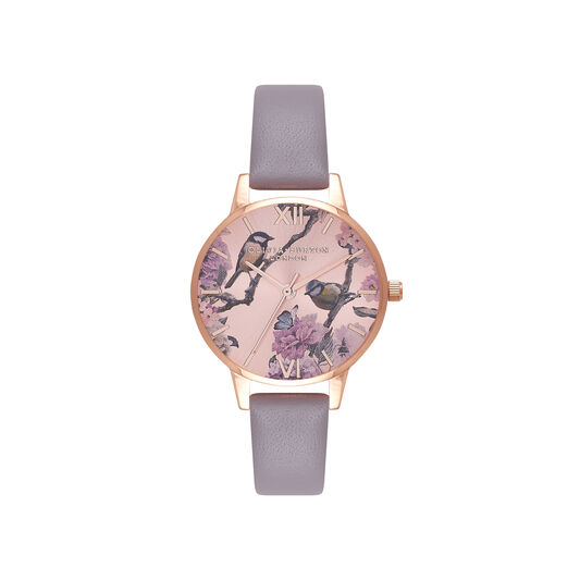 Olivia Burton Pretty Blossom Rose Gold & London Grey Watch