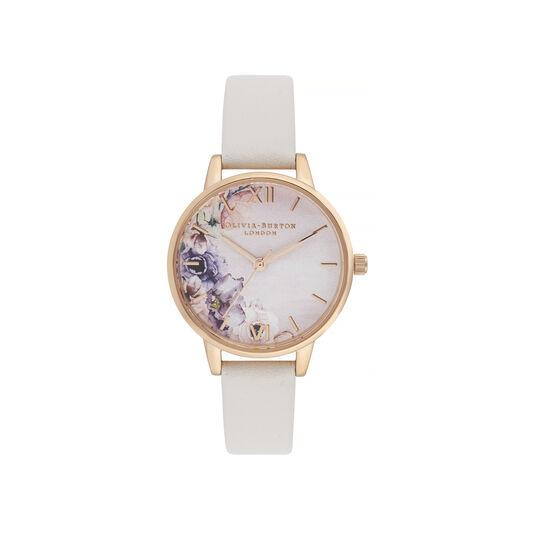Watercolour Florals Midi Dial Watch