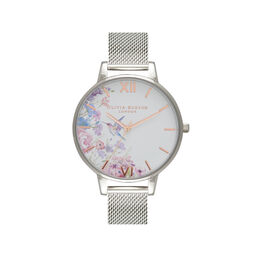 Demi Hummingbirds Silver Mesh Watch