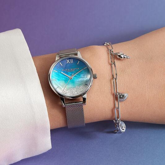 Under The Sea Silver Charm Bracelet