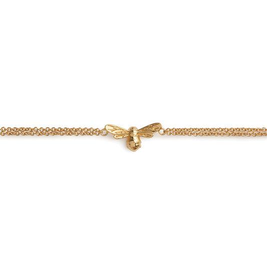 Lucky Bee Chain Bracelet Gold