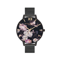 Signature Florals IP Black Mesh