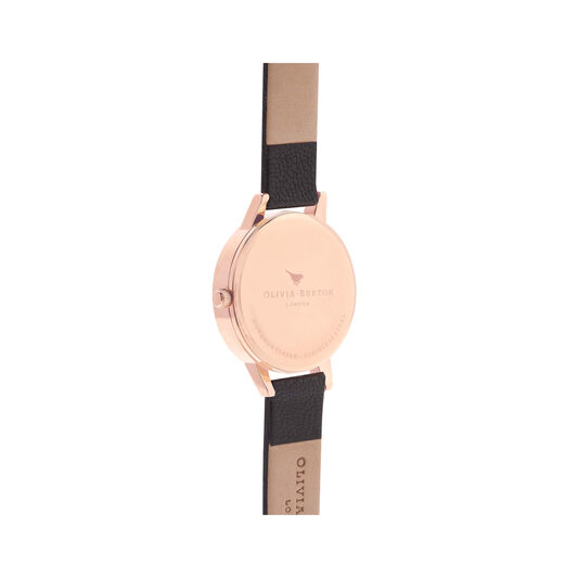 Olivia Burton Wonderland Black, Rose Gold & Silver Mix Watch