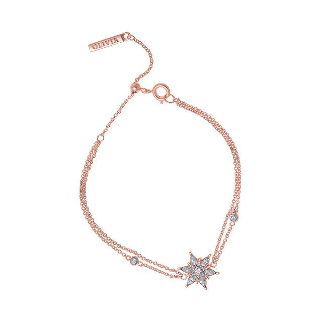Snowflake Rose Gold Chain Bracelet