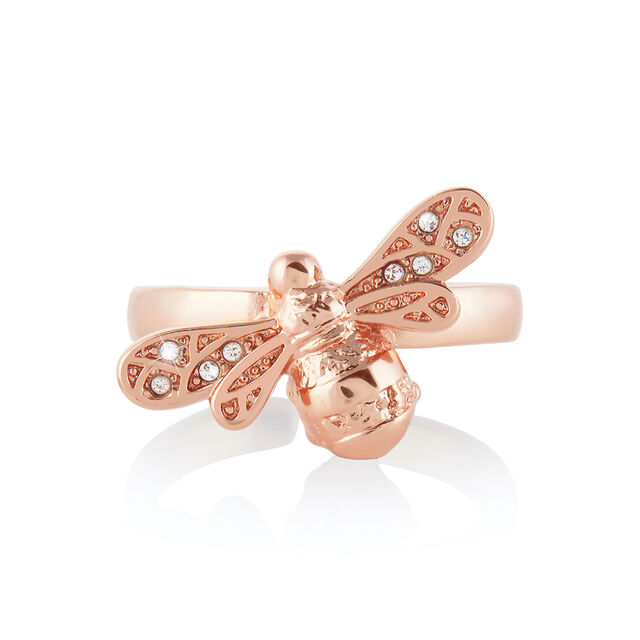 Sparkle Bee Rose Gold Ring