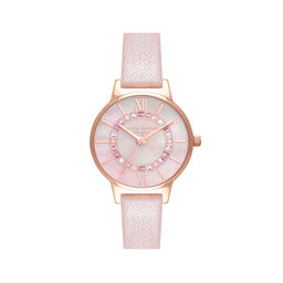 Sparkle Wonderland Pearl Pink & Rose Gold Watch