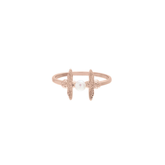 Pearl Bee Ring Rose Gold M