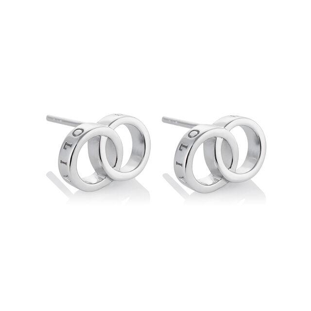 Classics Interlink Silver Earrings