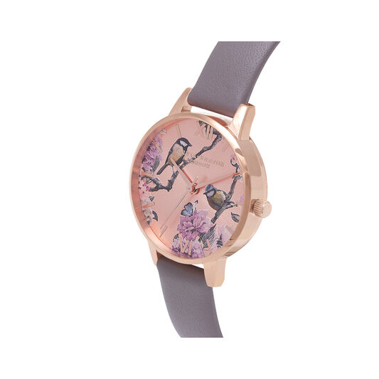 Olivia Burton Pretty Blossom Rose Gold & London Grey Watch