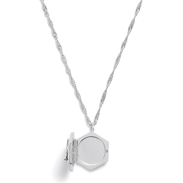 Lucky Bee Silver Locket Necklace