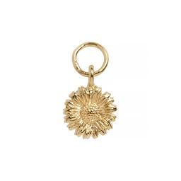 3D Daisy Huggie Charm Gold