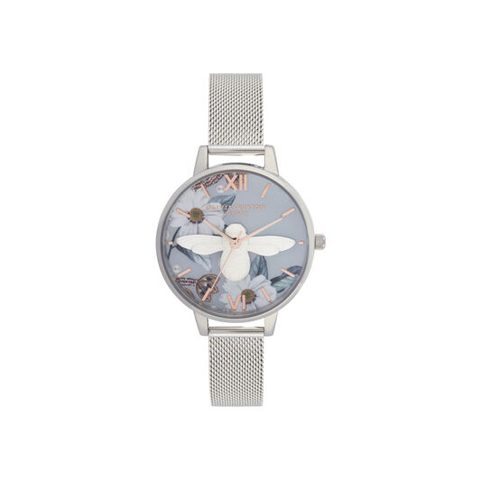 Bejewelled Florals 3D Bee Demi Dial Watch