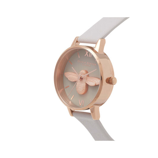 Midi 3D Bee Grey Dial & Rose Gold Watch