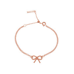 Vintage Bow Chain Bracelet Rose Gold