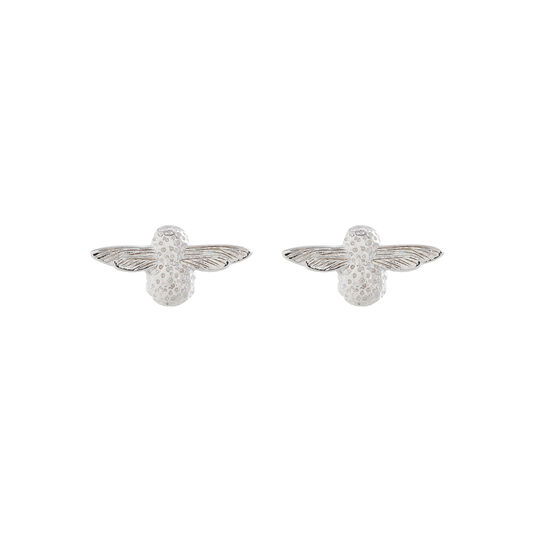 3D Bee Studs Silver