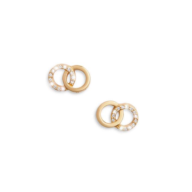 Bejewelled Interlink Earrings Gold