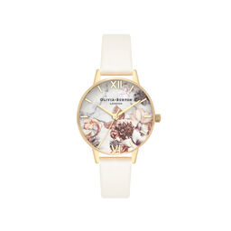 Marble Florals Nude & Gold