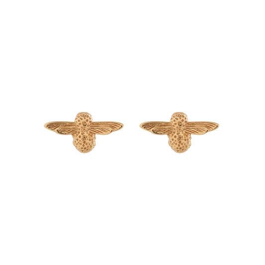 3D Bee Studs Gold