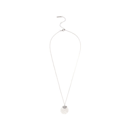 Semi Precious Necklace Silver & Rose Quartz