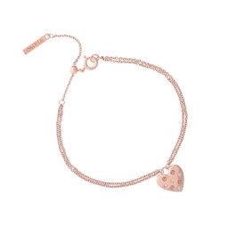 Classic Heart Rose Gold Bracelet