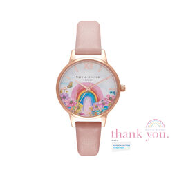 Rainbow of Hope Midi Dial Dusty Pink & Rose Gold Watch