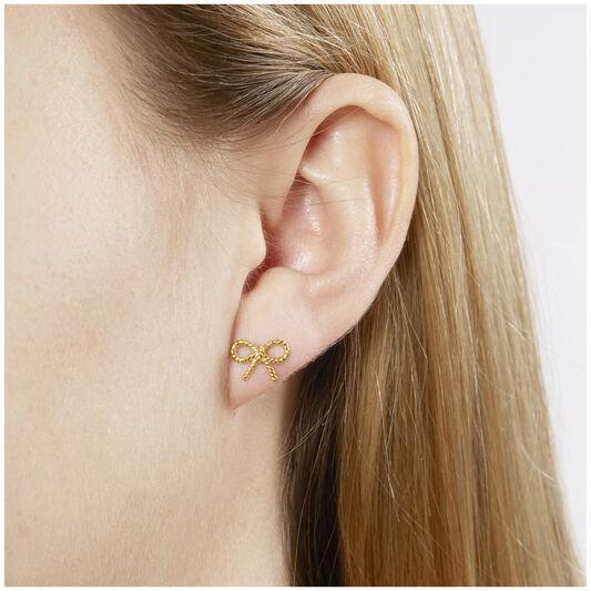 Vintage Bow Stud Earrings
