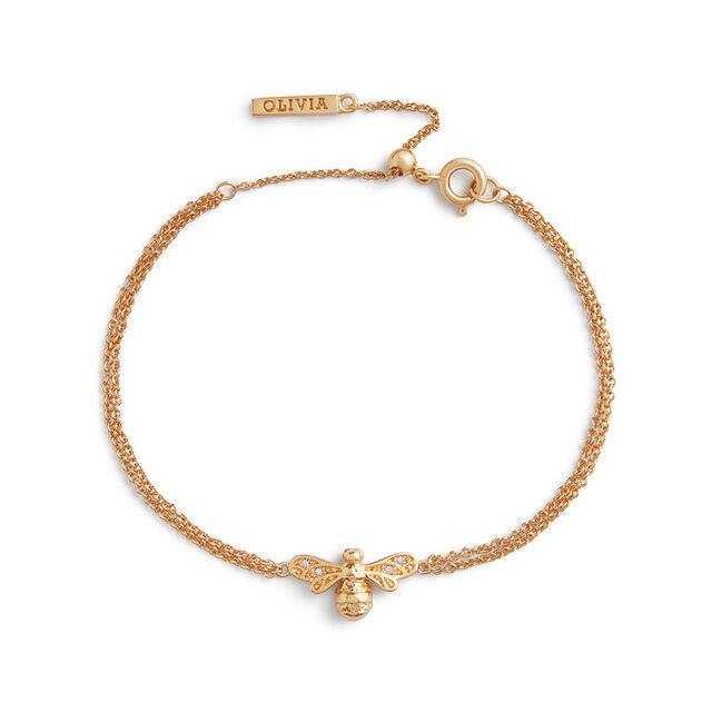 Sparkle Bee Gold Chain Bracelet
