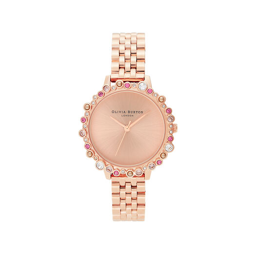 Limited Edition Bejewelled Case Watch Rose Gold Bracelet