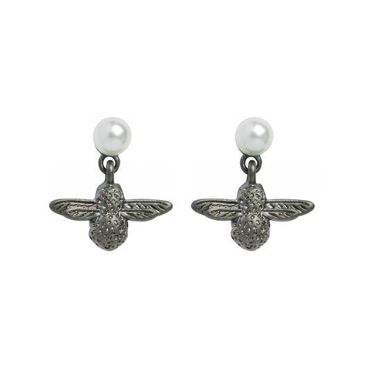 Olivia Burton Pearl Bee Twilight Earrings