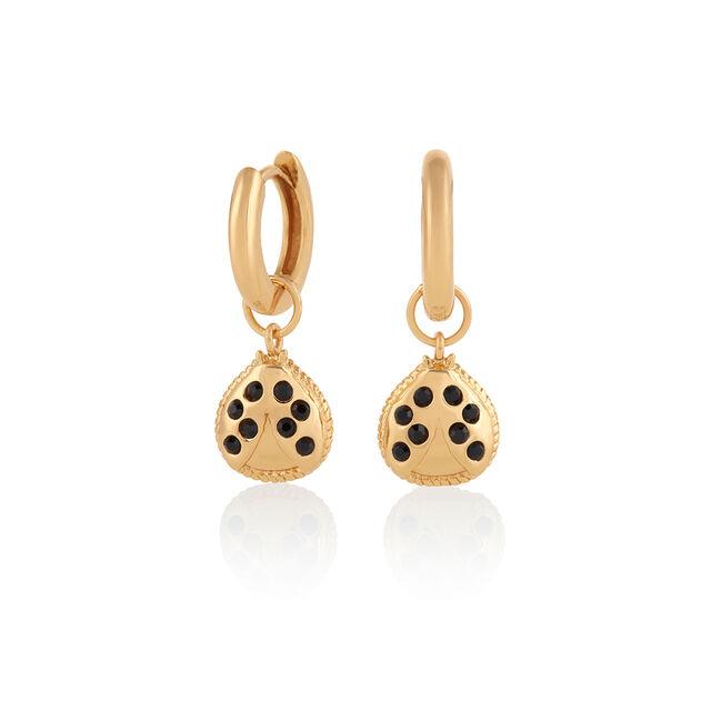 Ladybird Huggie Hoops Gold