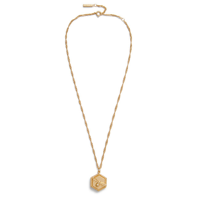 Lucky Bee Gold Locket Necklace