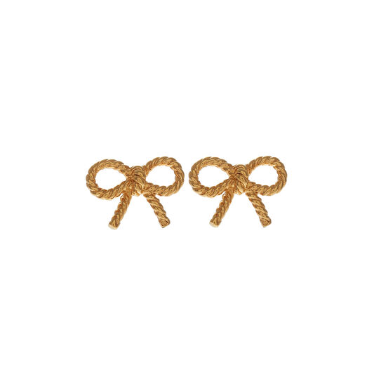 Vintage Bow Earrings Gold