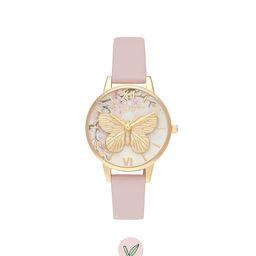Pretty Blossom 3D Butterfly Vegan Rose & Gold