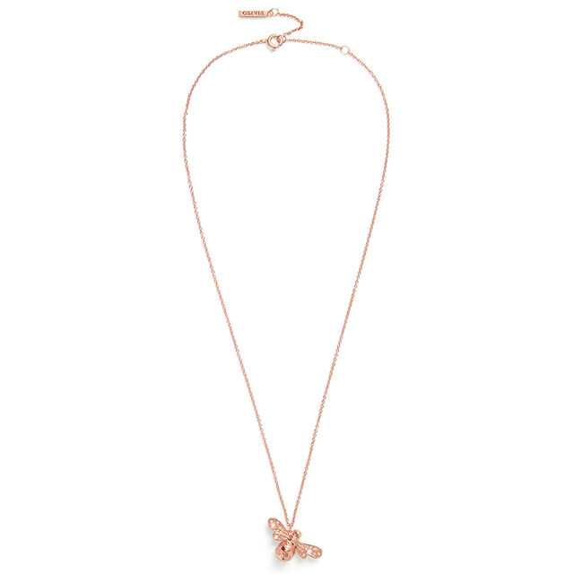 Sparkle Bee Rose Gold Necklace