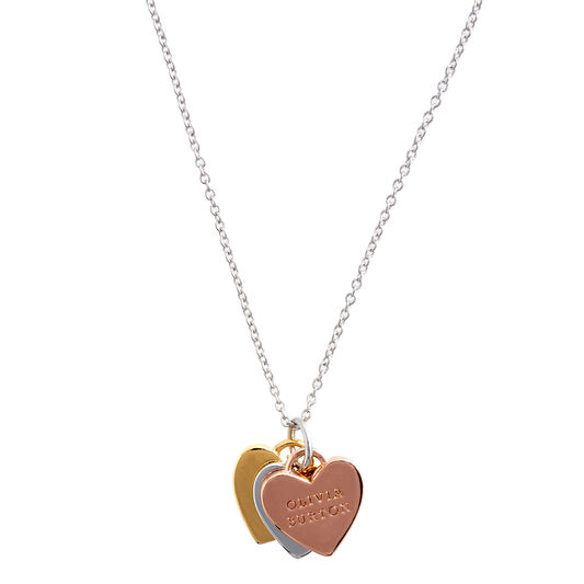 Classic Heart 3 Tone Necklace