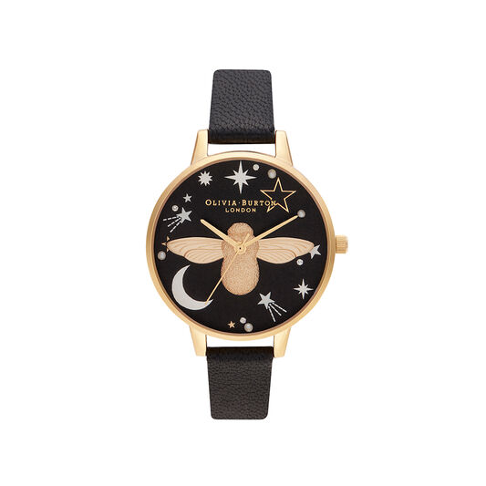Celestial 3D Bee, Black & Gold