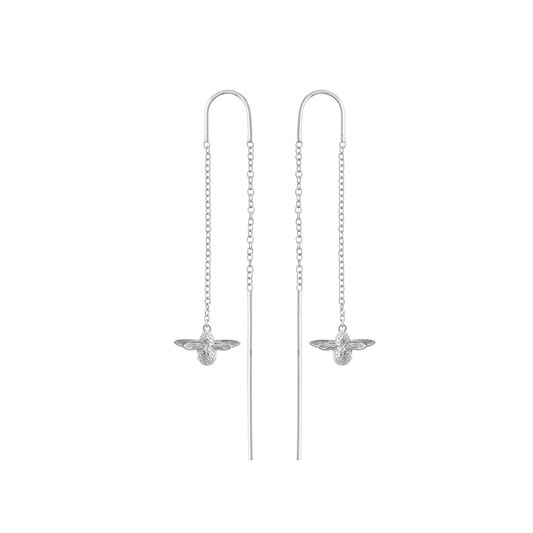 Olivia Burton 3D Bee Threader Earrings Silver