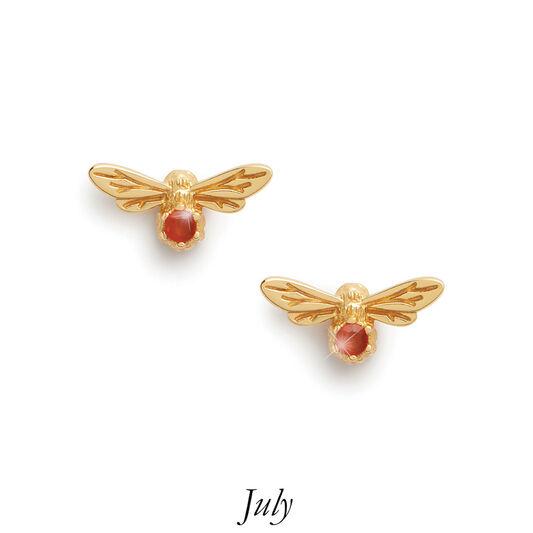 Celebration Stones Celebration Bee Studs Gold & Red Agate (July)