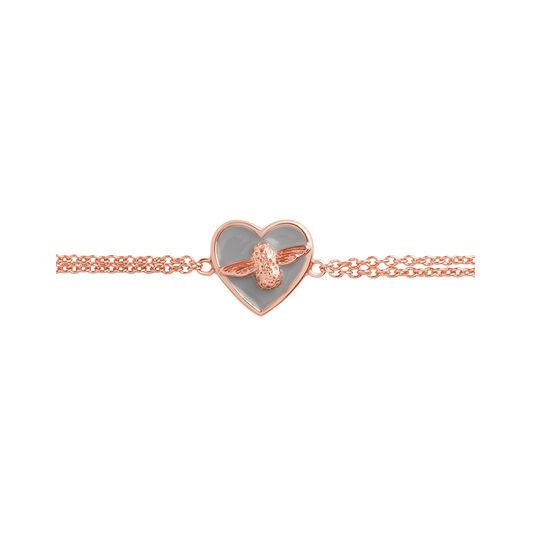 Love Bug Chain Bracelet Grey & Rose Gold