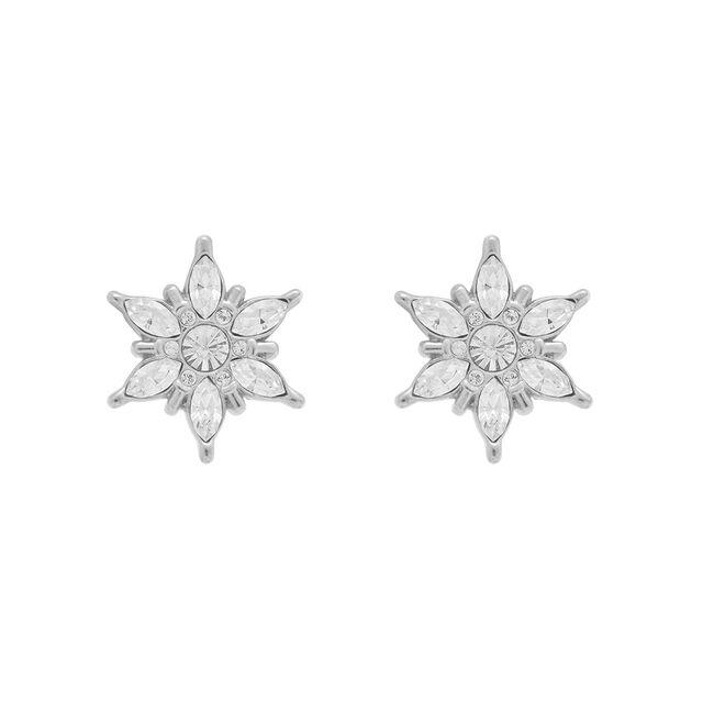 Snowflake Silver Studs