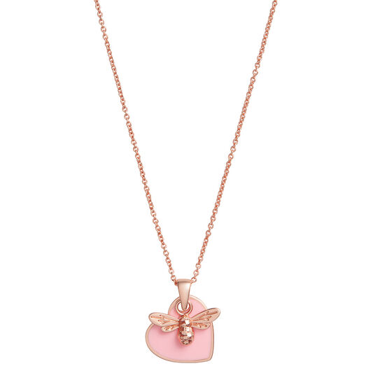 You Have My Heart Necklace Pink & Rose Gold