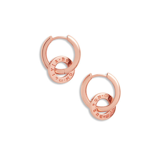 Interlink Huggies Rose Gold