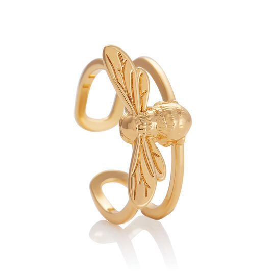 Lucky Bee Ring Gold
