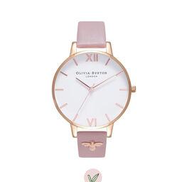 3D Bee Embellished Strap Soft Rose & Rose Gold Watch