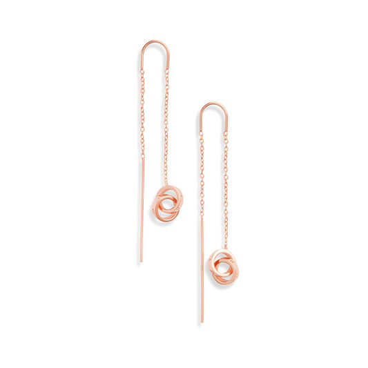 Interlink Threader Earrings Rose Gold
