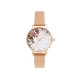 Midi Coral & Rose Gold Watch
