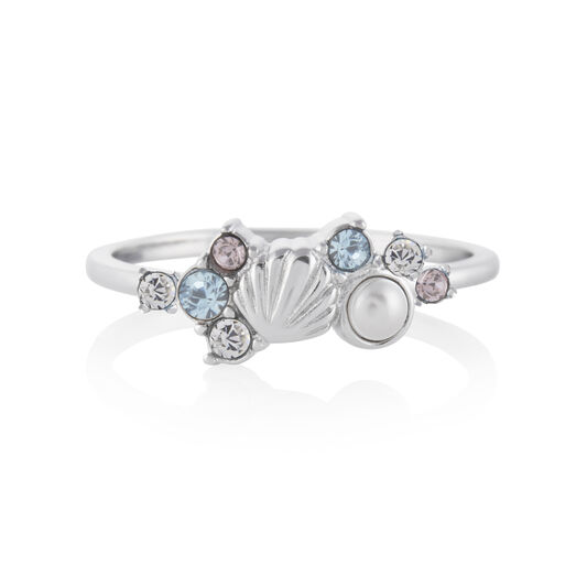 Sparkle Shell Silver Ring (M)
