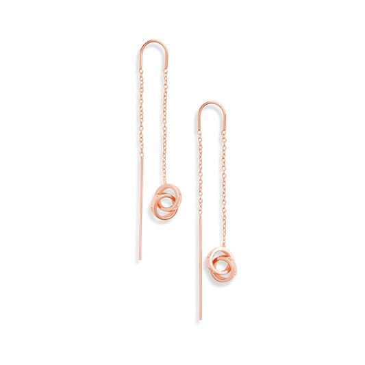 Interlink Threader Earings Rose Gold