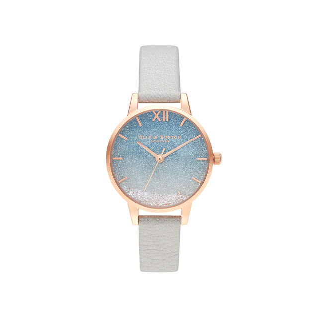 Wishing Wave Glitter Dial, Shimmer Pearl & Rose Gold